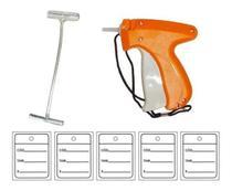 Kit  Aplicador Tag Completo c/1000 Etiquetas + 5000 Pins P/ Roupas em Geral - Western