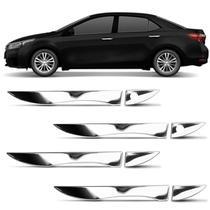 Kit Aplique Maçaneta Corolla 2015 a 2019 Cromado 4 Portas Fácil Aplicação - Mk2