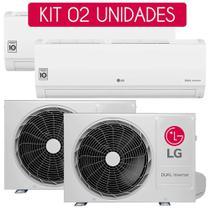 Kit Ar-condicionado Split Hi-Wall LG Dual Inverter Compact 12.000 Btu/h Frio -  220V - 02 Unidades -