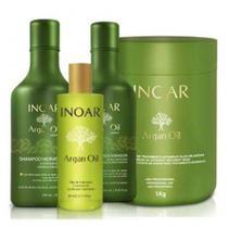 Kit Argan Oil Shampoo 250ml + Condicionador 250ml + Máscara 1kg + Oleo 60ml - Inoar