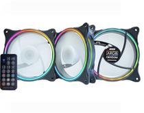 Kit ARGB AKAAD Streamer K-mex 3 Fans 120mm Controle remoto -