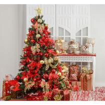 Kit Árvore De Natal Decorada 210Cm C/ 75 Enfeites - Cromus