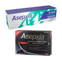 kit Asepxia Gel Secativo e Sabonete Detox Cravos e Espinhas -