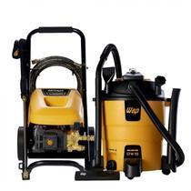 Kit Aspirador de Pó e Água 1600W e Lavadora de Alta Pressão 3200W WAP Amarelo -