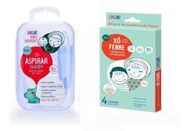 Kit Aspirador Sugador Nasal + Xo Febre Compressa Refrescante para Alivio da Febre - Likluc