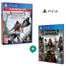 Kit  Assassins Creed IV Black Flag + Assassins Creed Syndicate, para Ps4 - Ubisoft -