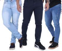 Kit Atacado 3 Calça Jeans Masculina Skinny Com Elastano - Daze Modas