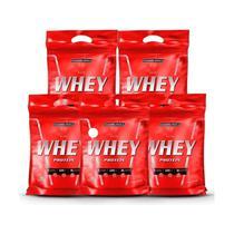 Kit Atacado 5x Nutri Whey Chocolate 907g Whey Protein Concentrado Isolado Integralmédica -