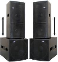 "Kit Ativo  (2x12"" Ti + Sub 18"" Compact) 4 Caixas 3200w - Nhl Pro Sound"