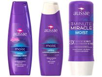 Kit Aussie 3 Minute Miracle Moist 236ml com - Moist Shampoo 400ml + Moist Condicionador 400ml