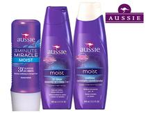 Kit Aussie 3 Minute Miracle Moist 236ml com - Moist Shampoo 400ml + Moist Condicionador 400ml -