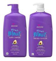 Kit  Aussie Miracle Moist Shampoo 778ml + Condicionador 778ml -