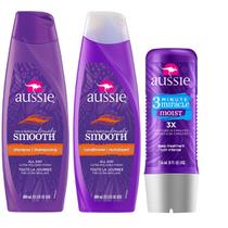 Kit Aussie Miraculously Smooth com Shampoo 400ml + Condicionador 400ml + Tratamento 3 Minutos 236ml
