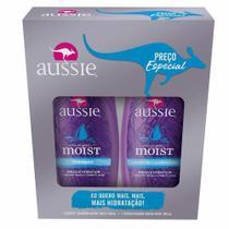 Kit Aussie Moist Shampoo 360ml + Condicionador 180ml -