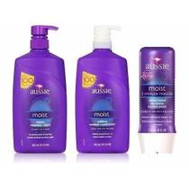 Kit Aussie Moist Shampoo Cond 865ml 3 Minute -
