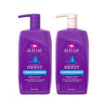 Kit  Aussie Shampoo E Condicionador Moist 865ml
