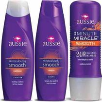 Kit Aussie - Shampoo e Condicionador Smooth 400 ML + Mascara Smooth 236 ML