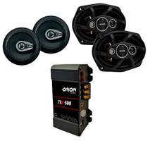 Kit Auto Falante 6 Pol + 6x9 280 Watts + Modulo Tsd 500 - Orion