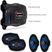 Kit Auto Falante 6 Pol + 6x9 Orion + Taramps Tl500 Combo 220w -