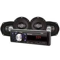 Kit Automotivo Rádio Mp3 E 4 Alto Falantes 6X9 Au955 Multilaser