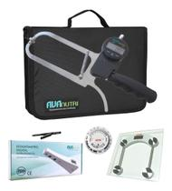 Kit Avaliação física completo com adipômetro digital estadiômetro portátil e trena - Avanutri