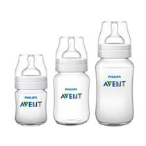 Kit Avent Classic+ 3 Mamadeiras 125, 260, 330ml - Philips avent