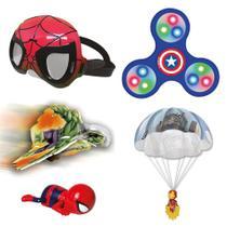 Kit aventuras spiderman e avengers premium - Candide