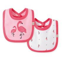 Kit Babadores Bebê Pingo Lelê Flamingo Feminino 2 Peças -