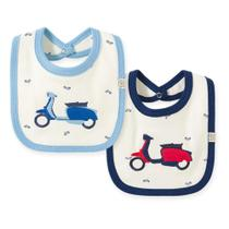 Kit Babadores Bebê Pingo Lelê Moto Masculino 2 Peças -
