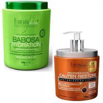 Kit Babosa 950g + Cauter Restore 500g Forever Liss -