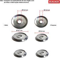 Kit bacias em aluminio para fogões dako civic 4 bocas -