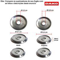 Kit bacias em aluminio para fogões dako lumina 4 bocas -