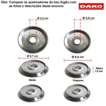 Kit bacias em aluminio para fogões dako luna 4 bocas -