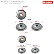 Kit bacias em aluminio para fogões dako reale 4 bocas -