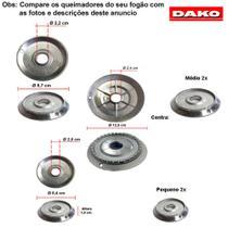 Kit bacias em alumínio para fogões dako tango 5 bocas -