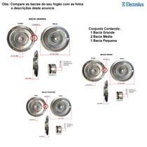 Kit bacias em alumínio para fogões electrolux 4 bocas 50 sbp -