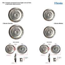 Kit bacias em alumínio para fogões electrolux 4 bocas 52 sb -