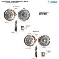 Kit bacias em alumínio para fogões electrolux  5 bocas 76 ssc -