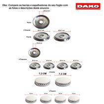 Kit bacias + espalhadores em alumínio dako energia automatico 6 bcs - Dako Energia Automático