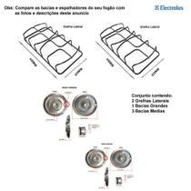 Kit bacias + grelhas p/ fogões electrolux 4 bocas 52 sm -