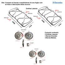 Kit bacias + grelhas p/ fogões electrolux 4 bocas 52 smc -