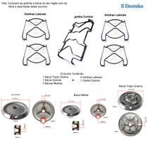 Kit bacias + grelhas p/ fogões tripla chama electrolux 5 bocas 76 dtb -