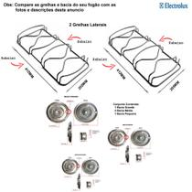 Kit bacias + grelhas para fogões electrolux 4 bocas 50 sbp -