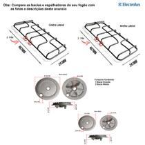 Kit bacias + grelhas para fogões electrolux 4 bocas 56 ut -