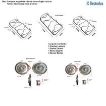 Kit bacias + grelhas para fogões electrolux  5 bocas 76 sbc -
