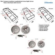 Kit bacias + grelhas para fogões electrolux 6 bocas 76 sm -