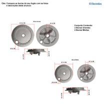 Kit bacias para fogões electrolux 6 bocas 76 ub -