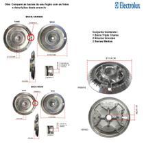 Kit bacias para fogões tripla chama electrolux 5 bocas 76 dxa -