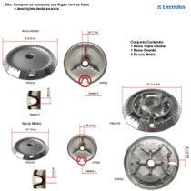 Kit bacias para fogões tripla chama electrolux  5 bocas 76 usv -