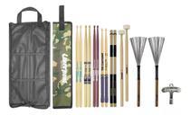 Kit Bag + Baquetas Variadas Linha Profissional Liverpool -